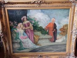 Old hungarian painting (udvary géza)