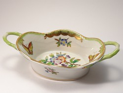 Herend Victoria's richly painted bowl with handles