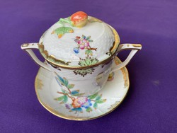 Herend Victoria patterned cup with handles
