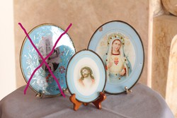 Glass religious themed images