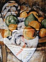 Paul Cézanne csendélet mintás selyemkendő, selyemsál