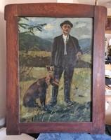 János Viski (1891 - 1987): hunter and his dog