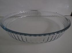 Üveg - BORCAM - PITE FORMA - RENDKÍVÜL VASTAG - 32 x 5 cm - ÚJSZERŰ - KARCMENTES