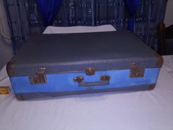 Old gray-turquoise suitcase
