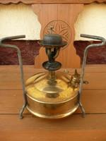 Antik, jelzett svéd tábori spiritusz / petróleum melegítő / tűzhely szép, működőképes állapotban