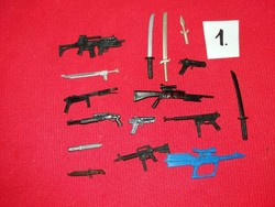 Soldier, warrior action g.I joe star wars and other figures weapon pack in one pictures 1
