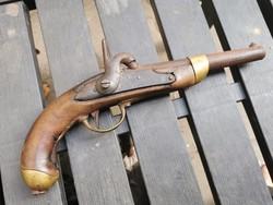 Francia lovassági csappantyús pisztoly 1800 első feléből