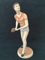 Hollóházi sportoló, nő, lány