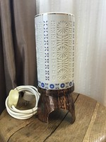Old applied art table lamp with porcelain shade