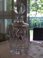 Lead crystal whiskey decanter