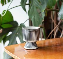 Tiny modern ceramic pot - for succulent or cactus