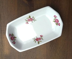 Hollóház porcelain bowl, holder, jewelry holder, marked, beautiful piece, in perfect condition
