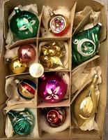 Régi retro  üveg Karácsonyfadíszek