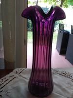 Muránói szakított üveg  váza