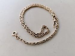 Gold Hungarian 14 carat old fox head pocket watch chain