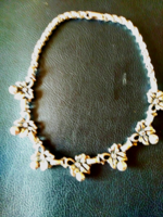Old solid silver necklace (necklace, chain)