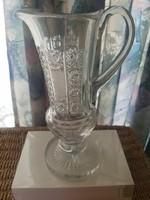 Haas & czjzek crystal pouring, jug kept in original condition, in a display case.