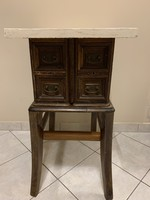 Rustic, unique, sewing machine drawer bedside cabinet, chest of drawers, storage