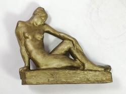 Jenő Kerényi: female nude unique terracotta