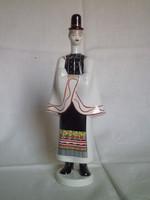 Old budapest aquincum porcelain matyo dress boy, bachelor figure