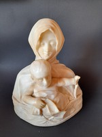 Old alabaster statue with Galli sign