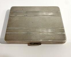 Art deco silver cigarette case, business card holder - 81g