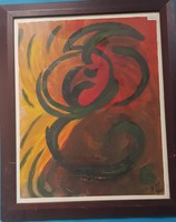 With illegible mark (bin?): Abstract (paper tempera)