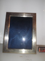 Silver-plated - old - English - large - photo holder - 30 x 23 cm - frame width 3.5 cm