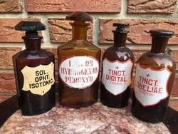 Pharmacy brown bottles 7pcs.