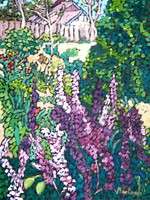 Mártonfi benke marta: flower summer garden - oil on canvas painting