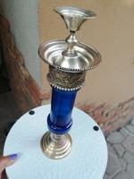 Ornate metal-glass candle holder 30 cm