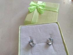Topaz stone silver earrings