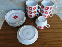 Raven house stylized flower pattern coffee cup with small plate