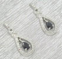 Csodás valódi zafír drágaköves   sterling ezüst /925/ füli--új