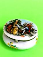 Scenic porcelain box.