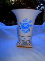 Old apponyi patterned lion's foot Herend porcelain pot vase 18.5 cm-- rare blue color