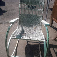 Retro rocking chair with tubular frame 1950s - 1960s!