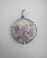Mária Terézia ezüst tallér SF-es, medál
