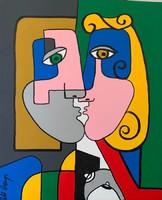Pető ring ++ 50x40 true love ++ modern abstract ++ acrylic painting