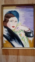 Significant ardeco painting!