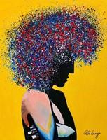 Egg bell ++ 50x40 starlight ++ modern figural ++ acrylic painting