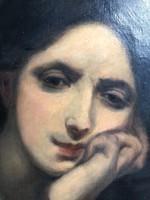 Zoltán Veres oil on canvas, 1886.
