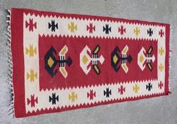 Toronto kilim rug, hand woven 101 x 48 cm + fringe