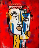 Pető bell ++ 50x40 poker face ++ modern abstract ++ acrylic painting