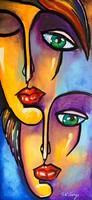 Pető bell ++ 80x40 gems ++ modern figural ++ acrylic painting