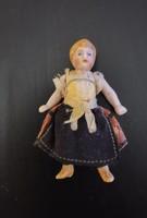 Antique miniature porcelain doll