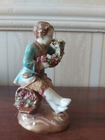 Extremely rare statue of Zsolnay family sealed