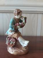 Zsolnay családi pecsétes extrém ritka szobor