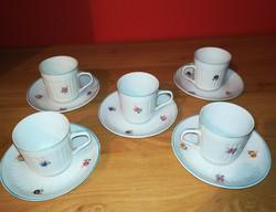 Old Holloházi very nice mocha-coffee cups + saucer 5 pcs.