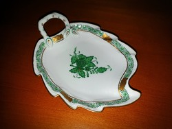 Bowl of Herend green apponyi leaves